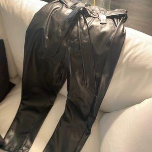 NWT Black Faux Leather Pants